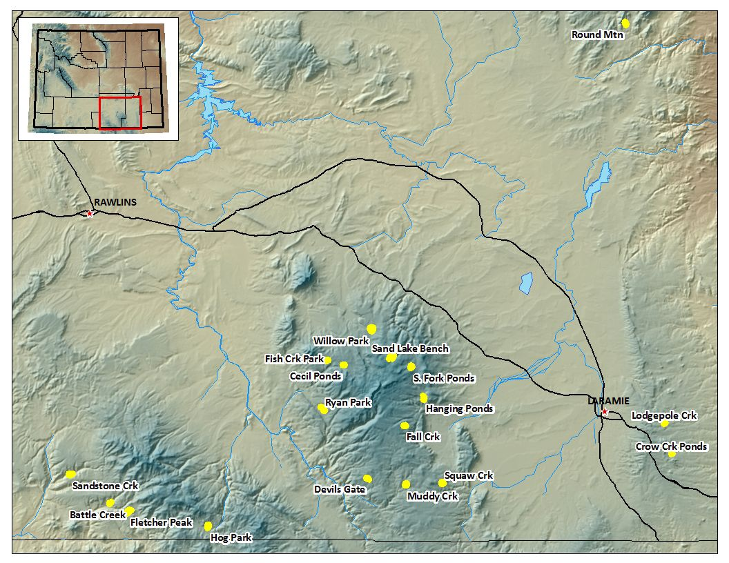 Image - Map of the Medicine Bow National Forest Catchments