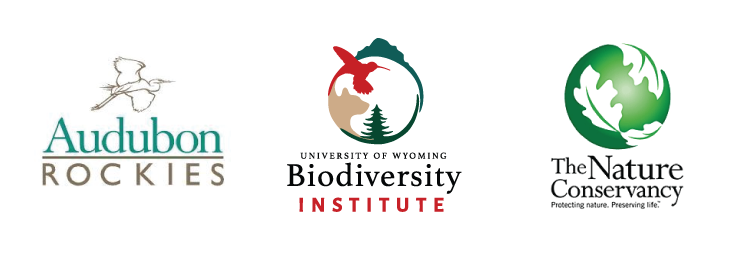 logo for the Audubon Rockies, Biodiversity Institute, and the Nature Conservancy
